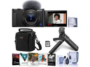 Sony ZV-1 Compact 4K HD Camera - With Free PC Accessory Bundle #DCZV1/B BP