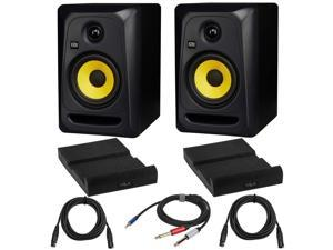"""KRK Classic 5 G3 5"""" 2-Way Studio Monitor with 2x Isolation Pad and Cables"""