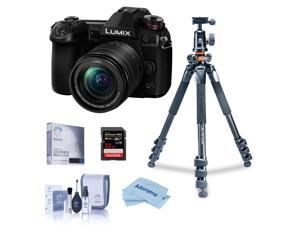 Panasonic Lumix G9 Camera w/12-60mm f/3.5-5.6 Lens, Bundle w/Vanguard Tripod Kit