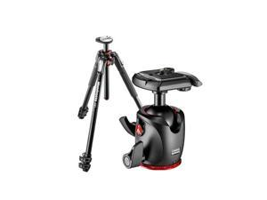 Manfrotto 190 3-section Aluminum Tripod- Black W/Manf MHXPRO-BHQ2 XPRO Ball Head