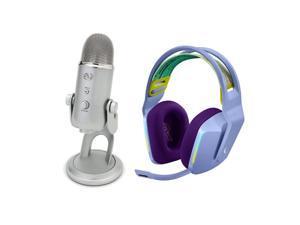 Blue Microphones YETI USB Condenser Mic W/Logitech G733 RGB Gaming Headset,Lilac