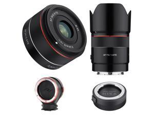 Rokinon 24mm F2.8 / 75mm F1.8 Full Frame Auto Focus Lenses For Sony E W/ACC KIT