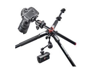 Manfrotto 190 Aluminum 4-Section Tripod with Horizontal Column #MT190XPRO4