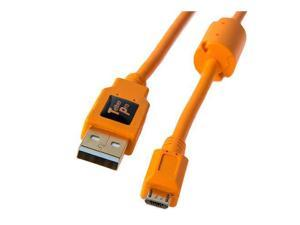 Tether Tools TetherPro 15' USB 2.0 A Male to Micro-B 5 Pin Cable, Orange