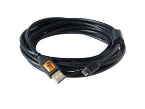 Tether Tools TetherPro 15' USB 2.0 A Male to Micro-B 5 Pin Cable, Black