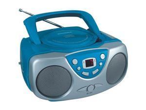 SYLVANIA SRCD243M BLUE Portable CD Radio Boom Box (Blue)