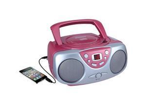 Sylvania SRCD243M PINK Portable CD Radio Boom Box (Pink )