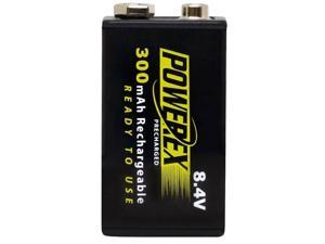 Maha Powerex MHR84VP 1-pack 300mAh 9V Ni-MH Rechargeable Batteries