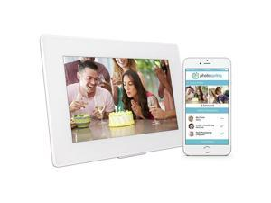 """Photospring 10"""" 32GB Wi-Fi Digital Photo Frame with Touchscreen and Battery"""