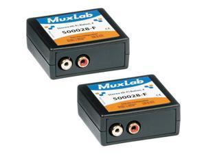 Muxlab Stereo Hi-Fi Balun with Color Coded RCA Female Plugs, 2 Pack #500028F2PK