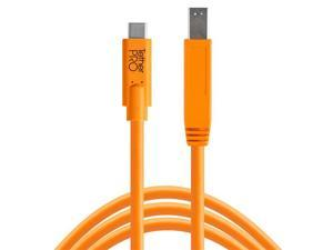 Tether Tools TetherPro USB-C to 3.0 Male B Cable, 15', Orange #CUC3415-ORG