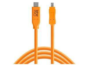 Tether Tools TetherPro USB-C to 2.0 Mini-B 8-Pin Cable, 15', Orange #CUC2615-ORG
