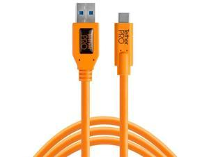 Tether Tools TetherPro USB to USB-C Cable, 15', Orange #CUC3215-ORG