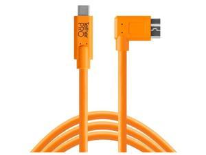 Tether Tools TetherPro USB-C to 3.0 Micro-B Right Angle Cable, 15', Orange