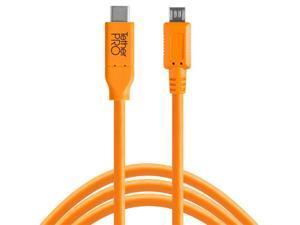 Tether Tools TetherPro USB-C to 2.0 Micro-B 5-Pin Cable, 15', Orange #CUC2515ORG