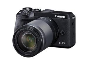 Canon EOS M6 Mark II Mirrorless Digital Camera, 18-150mm Lens, EVF-DC2, Black