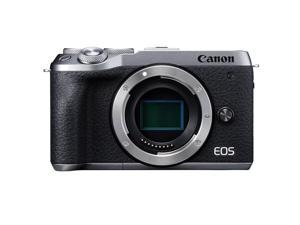 Canon EOS M6 Mark II Mirrorless Digital Camera Body, Silver #3612C001