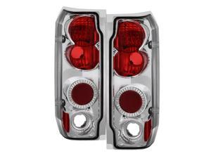 Spyder Auto Ford F150 87-96 / Ford Bronco 89-96 Euro Tail Lights - Chrome ALT-YD-FF15089-C