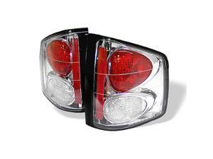 Spyder Auto 5001894 Euro Style Tail Lights; Uses Stock Bulbs; Pair; Chrome;