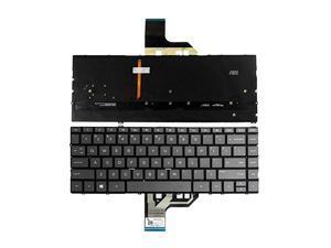 New US Black Backlit Laptop Keyboard (without palmrest) for HP Spectre 13-ap 13-AP0008CA 13-AP0010CA 13-AP0013DX 13-AP0023DX 13-AP0028CA 13-AP0033DX 13-AP0038NR 13-AP0039NR 13-AP0040CA 13-AP0043DX