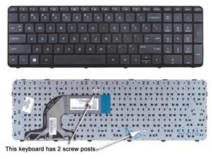Replacement for HP 15-f125wm 15-f199nr 15-f200 15-f205dx 15-f210ca 15-f215dx US Layout Black Color with Frame New Laptop Keyboard