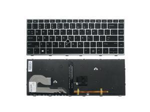 New US Black Backlit English Laptop Keyboard Replacement for HP EliteBook 840 G6 745 G6 Light Backlight