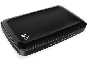 WD Net Switch - 8 Port Gigabit Ethernet Network Switch - HD Media Switch, WDBJVC0000NCH, Black