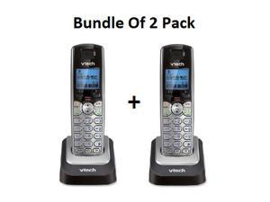 VTech DS6101 Accessory Handset with Caller ID/Call Waiting for VTech DS6151, Silver Bundle of 2 Pack