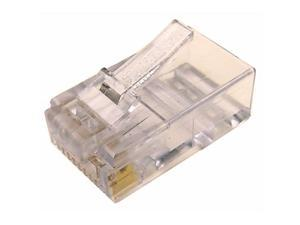 Cables Unlimited UTP-7010-50 Cat6 2-Piece RJ45 Connector for Solid Wire 50 Pack (Clear)