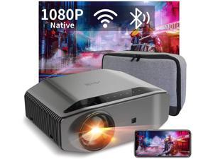 "1080P Projector - Artlii Energon 2 Full HD WiFi Bluetooth Projector Support 4K, 7000L 300"" Display, Compatible with HDMI, iPhone, Android for Home Theater, PPT Presentation"