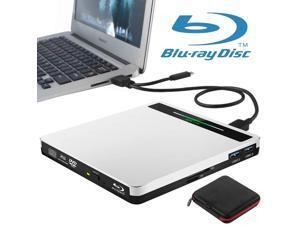 External Blu Ray DVD Drive USB 3.0 Type-C 5 in 1 Bluray Drive Player BD Burner for Laptop Mac MacBook Pro Air Windows 10 Desktop PC