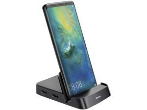 Baseus Docking Station, USB Type C HUB Docking Station for Samsung Galaxy S10/S9/S8/S10+/S9+ Note 9/8 Dex Station USB-C to HDMI Dock Power Adapter for Huawei P30 P20 Pro, Mate 10 and More