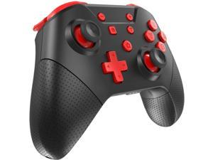 Wireless Pro Controller for Nintendo Switch/Switch Lite with Wake Up, NFC, Turbo, Gyro Axis, Dual Shock Support PC, Pro Controllers Compatible Nintendo Switch/Switch Lite/PC (Black Rad)