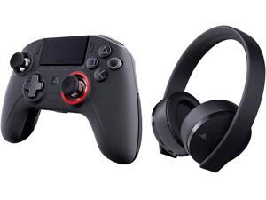 NACON Revolution Unlimited Pro V3 Playstation 4 Wireless Controller & Sony Playstation Gold Wireless Headset 7.1 Gaming Bundle