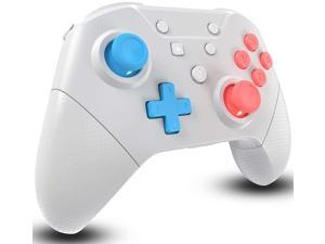 Wireless Pro Controller for Nintendo Switch/Switch Lite with Wake Up, NFC, Turbo, Gyro Axis, Dual Shock Support PC, Pro Controllers Compatible Nintendo Switch/Switch Lite/PC (Light Gray)