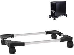 Liitrton Mobile CPU Stand Adjustable Computer Tower Stand with 4 Caster Wheels Fits Most PC (Black)