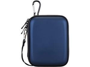 Lacdo Hard Drive Carrying Case for Seagate Portable Expansion Seagate Backup Plus Slim Seagate One Touch Portable External Hard Drive 1TB 2TB 4TB 5TB USB 3.0 2.5 inch HDD Shockproof Travel Bag, Blue