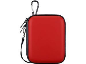 Lacdo Hard Drive Carrying Case for Seagate Portable Expansion Seagate Backup Plus Slim Seagate One Touch Portable External Hard Drive 1TB 2TB 4TB 5TB USB 3.0 2.5 inch HDD Shockproof Travel Bag, Red