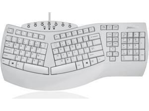 Perixx PERIBOARD-512W Periboard-512 Ergonomic Split Keyboard - Natural Ergonomic Design - White - Bulky Size 19.09X9.29X1.73 US English Layout