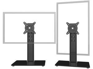2 Pack Single LCD Computer Monitor Free-Standing Desk Stand Riser for 13 inch to 32 inch Screen with Swivel, Height Adjustable, Rotation, Holds One (1) Screen up to 77Lbs(HT05B-201)