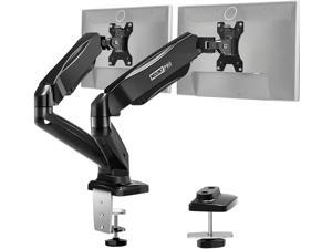 MOUNT PRO Dual Monitor Desk Mount - Articulating Gas Spring Monitor Arm, Removable VESA Mount Desk Stand with Clamp and Grommet Base - Fits 13 to 32 Inch LCD Computer Monitors, VESA 75x75, 100x100