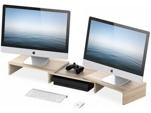 FITUEYES Monitor Stand Riser with Adjustable Length and Angle Laptop Desktop Stand DT108006WO
