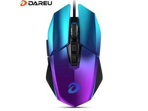 Dareu EM915 rgb gaming mouse pmw3336 8000 dpi 50 million life 7 button mice with omni-directional kbs buttons trigger for player