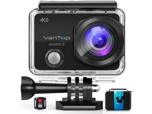 CORN Moment 3 4K Action Camera w/Gopro Compatible Carrying Case,Remote Control,16MP Sony Sensor,30M Waterproof Camera w/Gopro Compatible Accessories,2 Batteries,170° Ultra Wide Angle