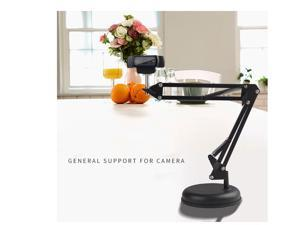 CORN Adjustable Desktop  Suspension Boom Scissor Mount Stand Holder for Logitech Webcam C922 C930e C930 C920 C615, Durable Iron, Perfect for Video Recording-Round Base
