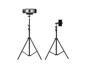 CORN Multifunctional Upgrade Lightweight Mini Tripod Maximum Standing Height of 210CM Adjusting Height by Legs or Aluminum Ring,WebcamTripod Stand with Smart Phone Mount Clips