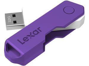 Lexar JumpDrive TwistTurn2 32GB USB 2.0 Flash Drive, Purple (LJDTT2-32GABNAPL)