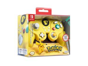 Nintendo Switch 500-100-NA-D3 Pokemon Pikachu GameCube Style Wired Fight Pad Pro Controller by PDP