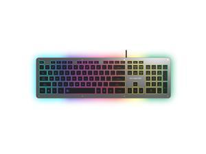CORN GK5 Aluminum Alloy Silent Typing Keyboard for Office and Daily Use, RGB Backlit , Extra-slim Keyboard with Chiclet Keycaps