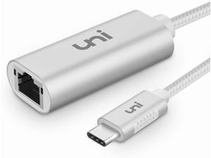 USB C to Ethernet Adapter, uni RJ45 to USB C Thunderbolt 3/Type-C Gigabit Ethernet LAN Network Adapter, Compatible for MacBook Pro 2020/2019/2018/2017, MacBook Air, Dell XPS and More
